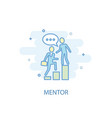 mentor line concept simple line icon colored vector image vector image