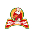 Merry Christmas Santa Claus vector image vector image