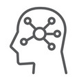 mind map line icon data and analytics vector image vector image