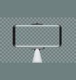 monopod selfie stick with empty smartphone screen vector image