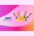 music festival concert poster with musical vector image vector image