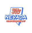 nevada state 4th july independence day vector image vector image