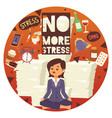 no more stress motivation background young calm vector image vector image