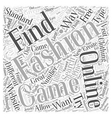 Online Fashion Games What They are How to Find vector image vector image