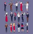 people dressed formally on vector image