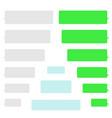 phone chat bubbles sms messages speech bubbles vector image vector image