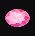 pink jewerly oval stone gemstone vector image