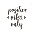 Positive Vibes Only Hand drawn typography poster vector image vector image