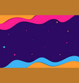 purple blue pink yellow abstract landscape 3d vector image vector image