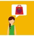 raspberry girl shop icon vector image vector image
