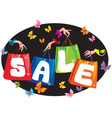 Sale concept with pockets and hands vector image