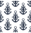 Sea anchors seamless pattern vector image