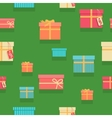 Seamless Pattern Gift Boxes with Ribbons and Bows vector image
