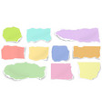 set of color paper different shapes tears vector image vector image