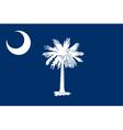 South Carolinian state flag vector image