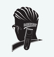 stylish barber shop vector image
