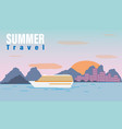 summer travel cruise vector image vector image