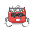 super cool tool box character cartoon vector image vector image