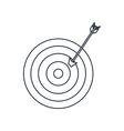 target with arrow isolated icon design vector image