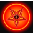 The Eye of Satan in The Metal Pentagram vector image