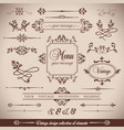 vintage set floral elements for design of vector image vector image