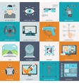 Virtual Augmented Reality Icons vector image vector image
