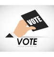 vote ballot vector image