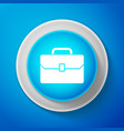 white briefcase icon business case sign vector image vector image