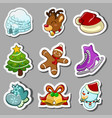 winter icons vector image vector image