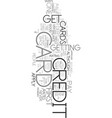 your first credit card text word cloud concept vector image vector image