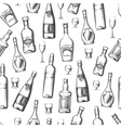 Seamless pattern with alcoholic drinks vector image
