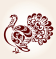 Decorative turkey vector image