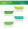 world environmental protection green energy vector image
