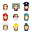 avatar professions vector image