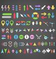Color arrows collection vector image