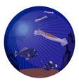 deep sea creatures underwater world inhabitants vector image