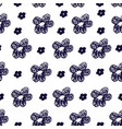 hand drawn flower pattern vector image