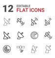 12 radar icons vector image vector image