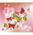 A stationery with a group of butterflies vector image vector image