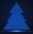 abstract christmas tree of lines vector image vector image