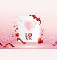 abstract love card template design vector image vector image