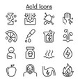 acid icon set in thin line style vector image vector image