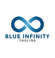 blue infinity logo icon design template vector image