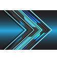 blue light grey circuit arrow direction design vector image vector image