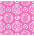 bright mandala pattern in pink-white vector image vector image