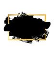 brush stroke gold text box isolated white vector image vector image