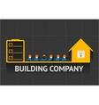 Building company emblem vector image