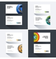 business card template with half target vector image vector image