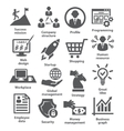 Business management icons Pack 29 vector image vector image