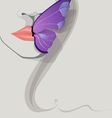 butterfly on lips vector image
